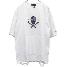 画像2: どくろダメージTシャツ 全2カラー ユニセックス (2)
