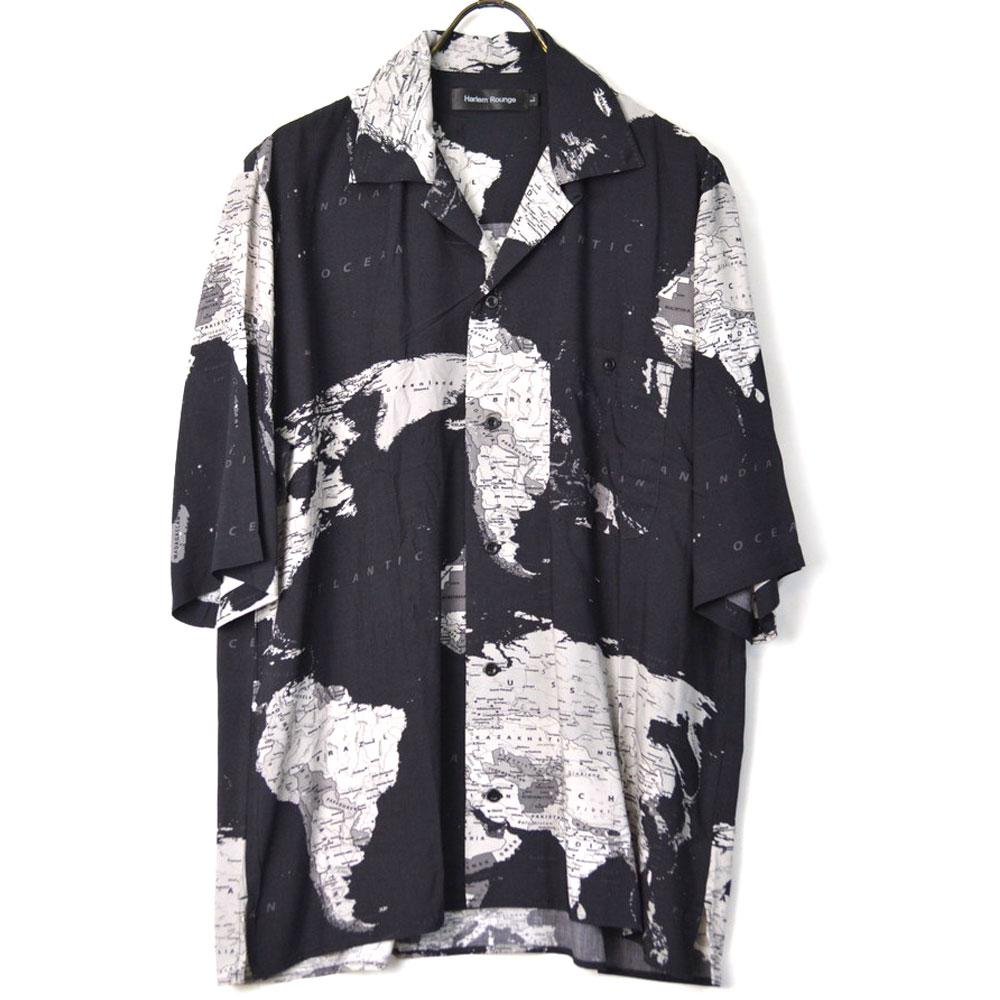 画像1: 【OUTLET/50%OFF】地図柄オープンカラーシャツ 全2カラー ユニセックス (1)