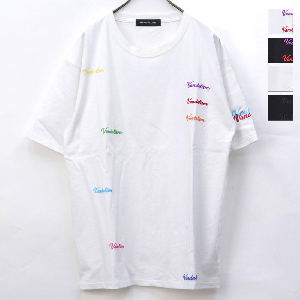 画像1: 【テレビ大阪「ホメられたい僕の妄想ごはん」着用アイテム】VANDALISM 刺繍T 全4カラー ユニセックス (1)
