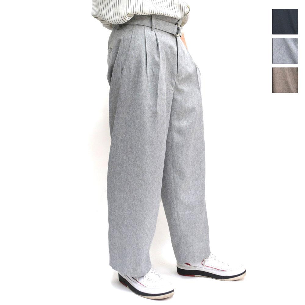 画像1: BELTED WIDE PANTS 全3カラー ユニセックス (1)