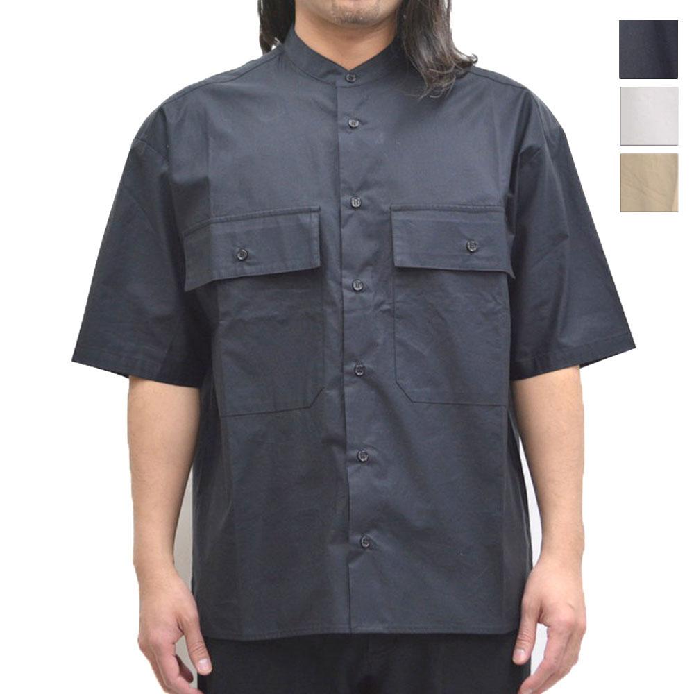 画像1: 【TBSテレビ「バナナサンド」着用アイテム】バンドカラーシャツ 全3カラー メンズ (1)