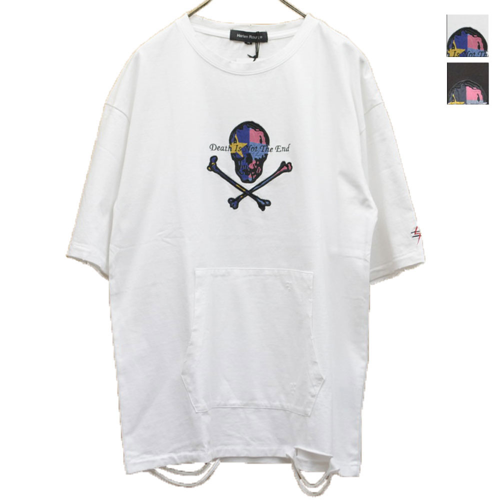 画像1: どくろダメージTシャツ 全2カラー ユニセックス (1)